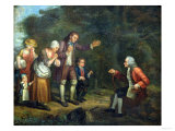 The Calas Family Before Voltaire at Ferney Giclee Print