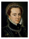 Margaret of Parma (1522-86), Regent of the Netherlands, Illegitimate Daughter of Emperor Charles V Giclee Print by Adriaen Thomasz Key