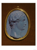 Glass Cameo Bearing the Profile of Tiberius (Claudius Nero) (42Bc-37 AD) Giclee Print