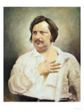 Portrait of Honore De Balzac (1799-1850) after a Daguerreotype Giclee Print