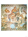 Orpheus Playing to the Animals, Roman Mosaic Reproduction procédé giclée