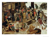 The Payment of the Tithe, or the Census at Bethlehem, Detail, after 1566 Impression giclée par Pieter Brueghel the Younger