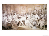 An Evening at Baron Von Spaun's: Schubert at the Piano Among His Friends Giclee Print by Moritz Ludwig von Schwind