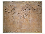 Queen Kawit at Her Toilet, from the Sarcophagus of Queen Kawit, Found at Deir El-Bahri Premium Giclee Print
