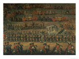 The Arrival of Isabella of Parma on the Occasion of Her Wedding to Joseph II Giclee Print by Martin van Meytens