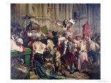 The Conquerors of the Bastille Before the Hotel De Ville in 1789, 1839 Giclee Print by Hippolyte Delaroche
