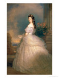 Elizabeth of Bavaria (1837-98), Empress of Austria, Wife of Emperor Franz Joseph (1830-1916) Reproduction proc&#233;d&#233; gicl&#233;e par Franz Xavier Winterhalter