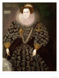 Frances Clinton, Lady Chandos (1552-1623), 1589 Giclee Print by Hieronymus Custodis