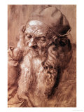 Portrait of a Man, Aged Ninety-Three, 1521 (Pen and Ink) Giclée-Druck von Albrecht Dürer