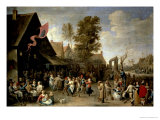 The Consecration of a Village Church, circa 1650 Gicl&#233;e-Druck von David Teniers the Younger