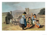Wensleydale Knitters, Engraved by Robert Havell the Elder, Pub. 1814 by Robinson and Son, Leeds Giclee Print by George Walker