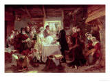 A Scottish Christening Giclee Print by John Phillip