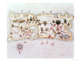 Map of the Island of Puerto Rico, 1599 Giclee Print by Samuel de Champlain