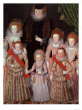 The Tasburgh Group: Lettice Cressy, Lady Tasburgh of Bodney, Norfolk and Her Children, circa 1605 Giclee Print