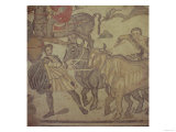 Oxen Transporting Water, Roman Mosaic, Early 4th Century Giclee Print