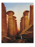 The Great Temple of Amun at Karnak Giclee Print by Jean Charles Langlois