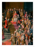 The Investiture of Joseph II (1741-90) Emperor of Germany in Frankfurt Cathedral Giclee Print by Martin van Meytens