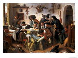 Beware of Luxury, circa 1663 Giclee Print by Jan Havicksz. Steen