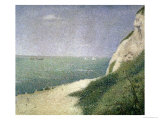 Beach at Bas Butin, Honfleur, 1886 Giclee Print by Georges Seurat