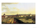 The Belvedere from Gesehen, Vienna Giclee Print by Bernardo Bellotto