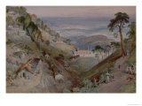 The Plains, Landour Church, Mussoorie, 1884 Giclee Print by William Simpson
