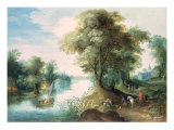 River Landscape Giclee Print by Jan Brueghel the Elder