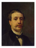 Portrait of Guy De Maupassant (1850-93) 1876 Giclee Print by Francois Nicolas Augustin Feyen-Perrin