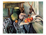 Still Life with Pitcher and Aubergines Giclee Print by Paul Cézanne