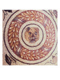Tiger&#39;s Head, Roman Mosaic, Early 4th Century Giclee Print
