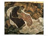 Death and the Maiden (Mann Und Madchen), 1915 Premium Giclee Print by Egon Schiele