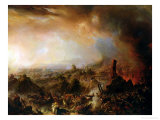 The Burning of Moscow in 1812, 1854 Giclee Print by Jean Charles Langlois