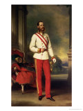 Franz Joseph I, Emperor of Austria (1830-1916) Wearing the Uniform of an Austrian Field Marshal Reproduction proc&#233;d&#233; gicl&#233;e par Franz Xavier Winterhalter