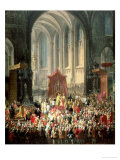 The Coronation of Joseph II (1741-90) as Emperor of Germany in Frankfurt Cathedral, 1764 Giclee Print by Martin van Meytens