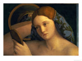 Young Woman at Her Toilet, Detail of the Face, 1515 Giclee Print by Giovanni Bellini