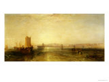 Brighton from the Sea, circa 1829 Giclée-tryk af William Turner