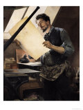 Felicien Rops (1833-98) in His Studio Giclee Print by Paul Mathey