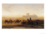 The Caravan Premium Giclee Print by Alexandre-Gabriel Decamps