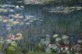 Waterlilies: Green Reflections, 1914-18 (Left Section) Stampa giclée di Claude Monet