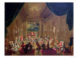 Initiation Ceremony in a Viennese Masonic Lodge During the Reign of Joseph II Premium Giclee Print by Ignaz Unterberger