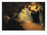 Young Girls at a Piano, 1906 Giclee Print by Gabriel Deluc