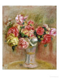 Roses in a Sevres Vase Giclee Print by Pierre-Auguste Renoir