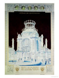 Academy of Fine Arts, Vienna, Design for the Hall of Honour (Coloured Pencil) Premium Giclee Print by Otto Wagner
