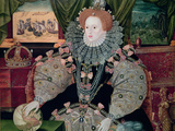 Elizabeth I, Armada Portrait, circa 1588 Giclee Print by George Gower