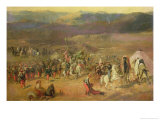 The Capture of the Retinue of Abd-El-Kader (1808-83) Or, the Battle of Isly in 1844, 1844-63 Giclee Print by Horace Vernet