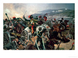 Battle of Balaclava, 25th October 1854, Relief of the Light Brigade (Colour Print) Giclee Print by Richard Caton Woodville II