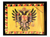 Flag of the Imperial Habsburg Dynasty, circa 1700 Premium Giclee Print