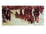 Baron Von Steuben Drilling American Recruits at Valley Forge in 1778, 1911 (Oil on Canvas) Giclee Print by Edwin Austin Abbey