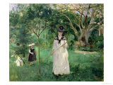 The Butterfly Hunt, 1874 Giclee Print by Berthe Morisot