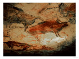 Rock Painting of Bison, circa 15000 BC Giclee Print