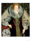 Queen Elizabeth I, circa 1585-90 Premium Giclee Print by John Bettes the Younger